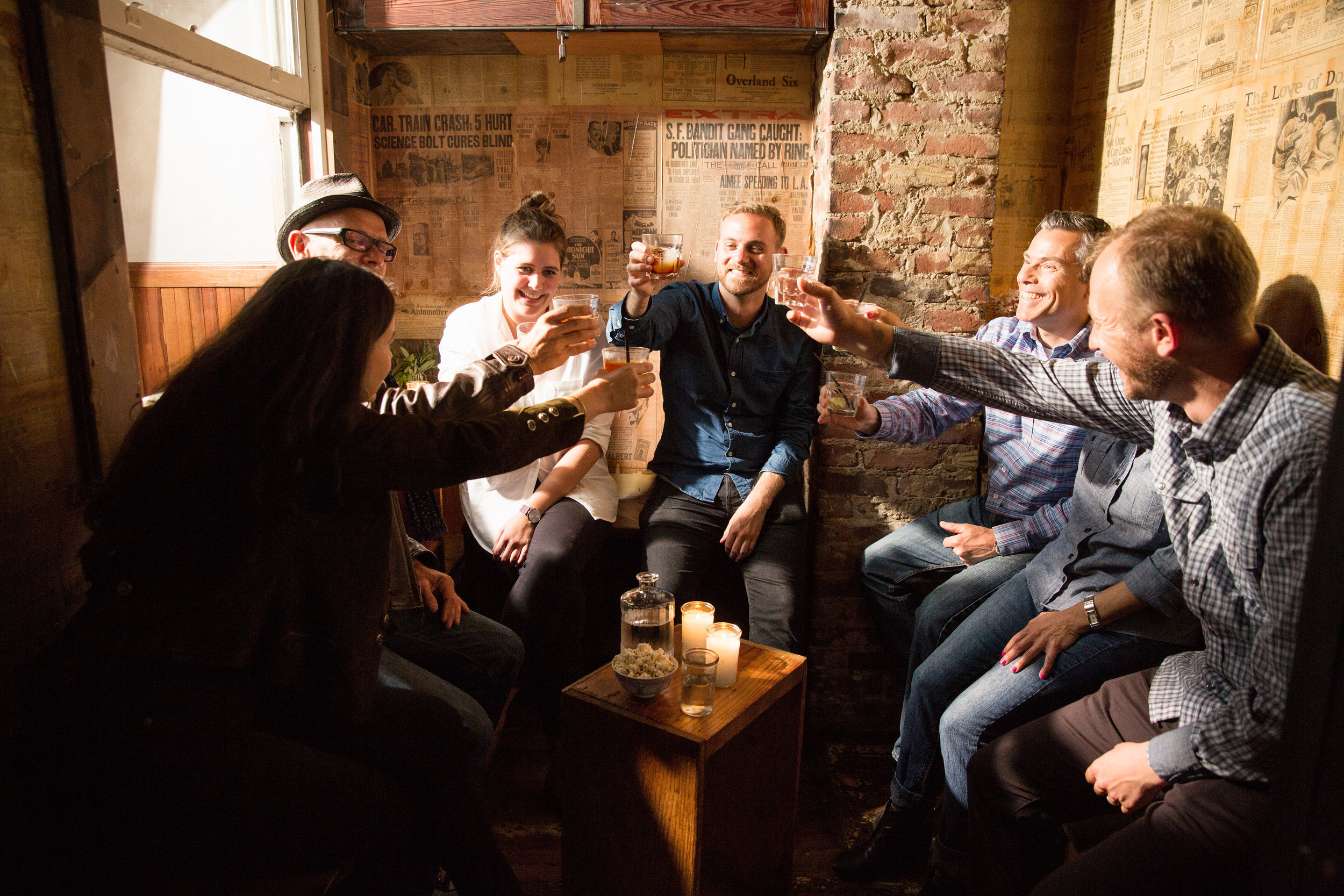 Reserve Space - A small group gathering in our unique Stock Room space is always memorable and special. Throwing a large party or event? Talk to us about booking the whole bar.