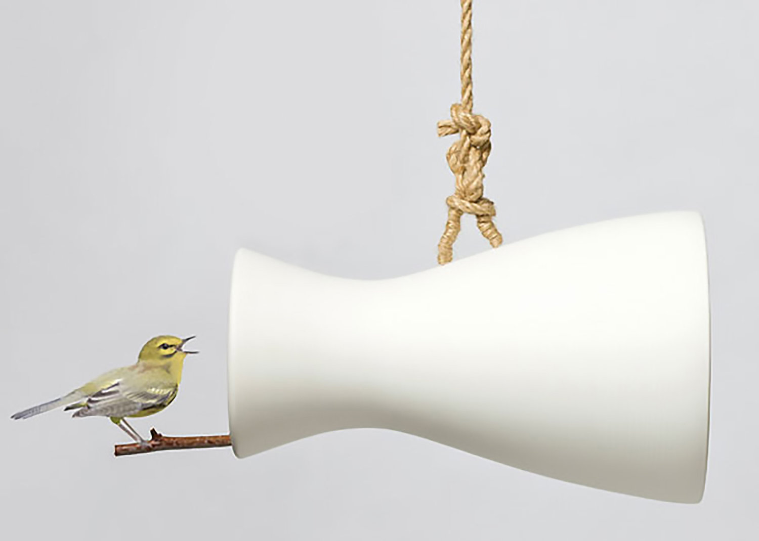 Megaphone for Feathered Friends Designed by Eun Ji Lee