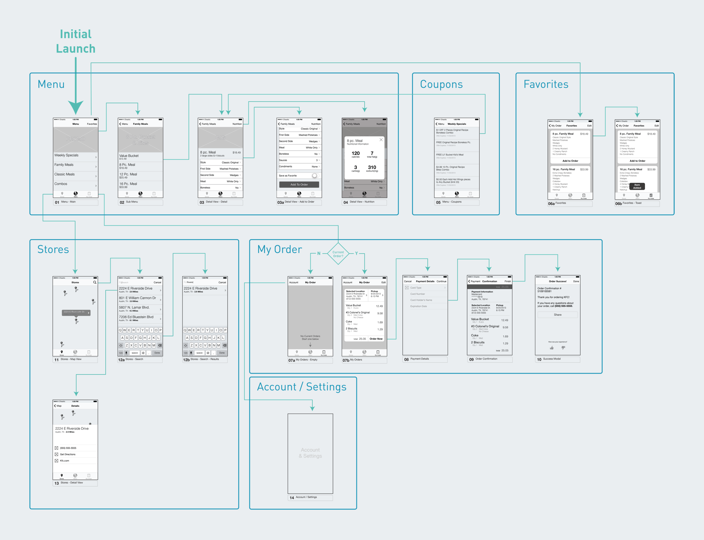 App Map and Wireframes