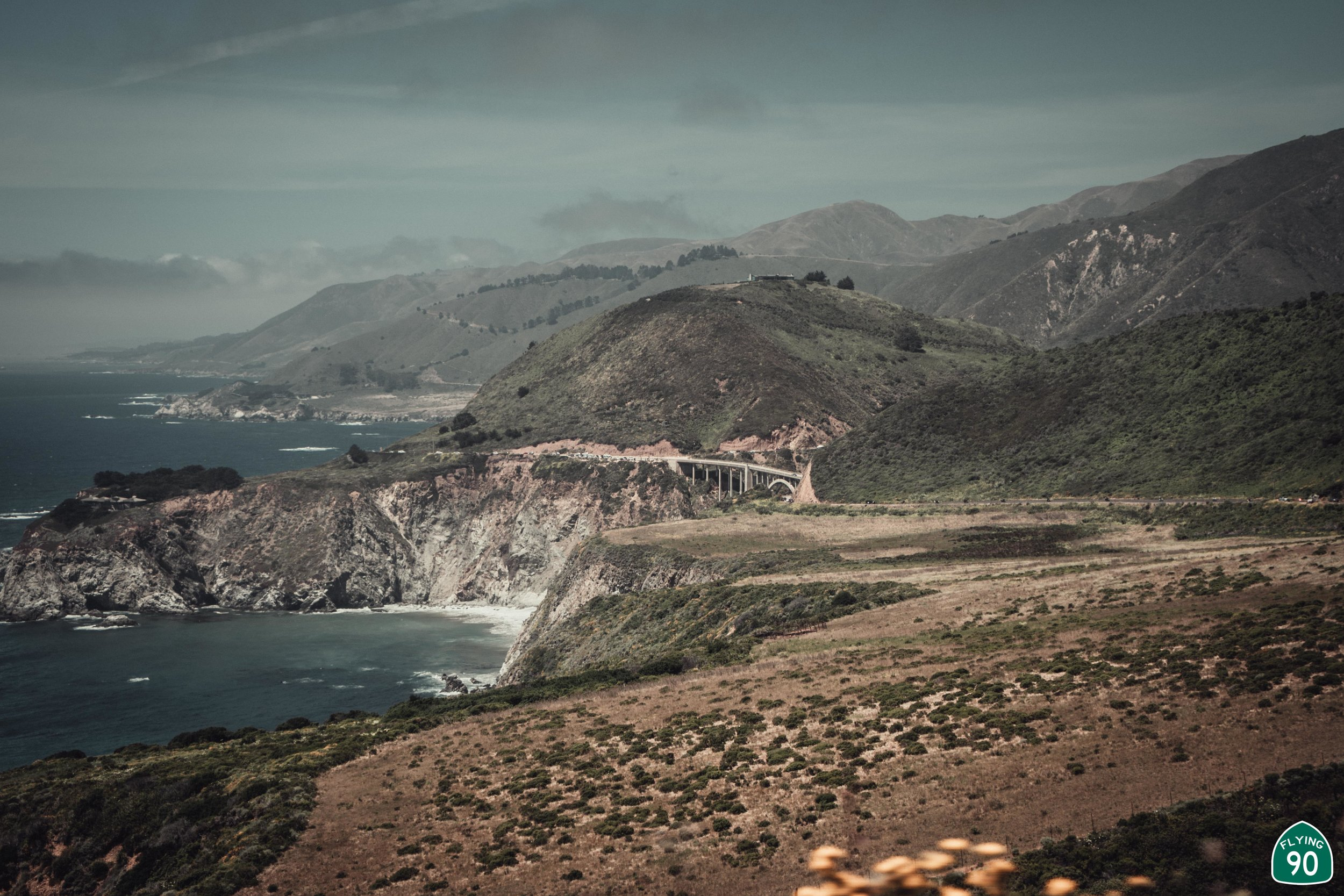 I think this is my favorite photo from this set. When you drive over the Bixby Bridge, it seems SO MASSIVE! But in this photo, especially compared to the California Coast, it seems so tiny!