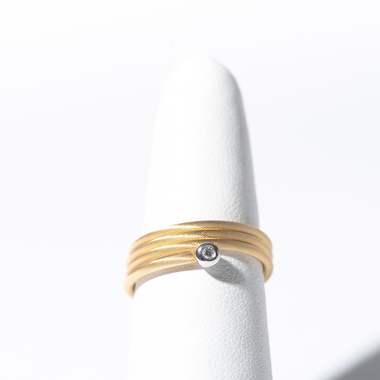 Design Six. - 14K Yellow Gold Flex Cable Wrap Ring