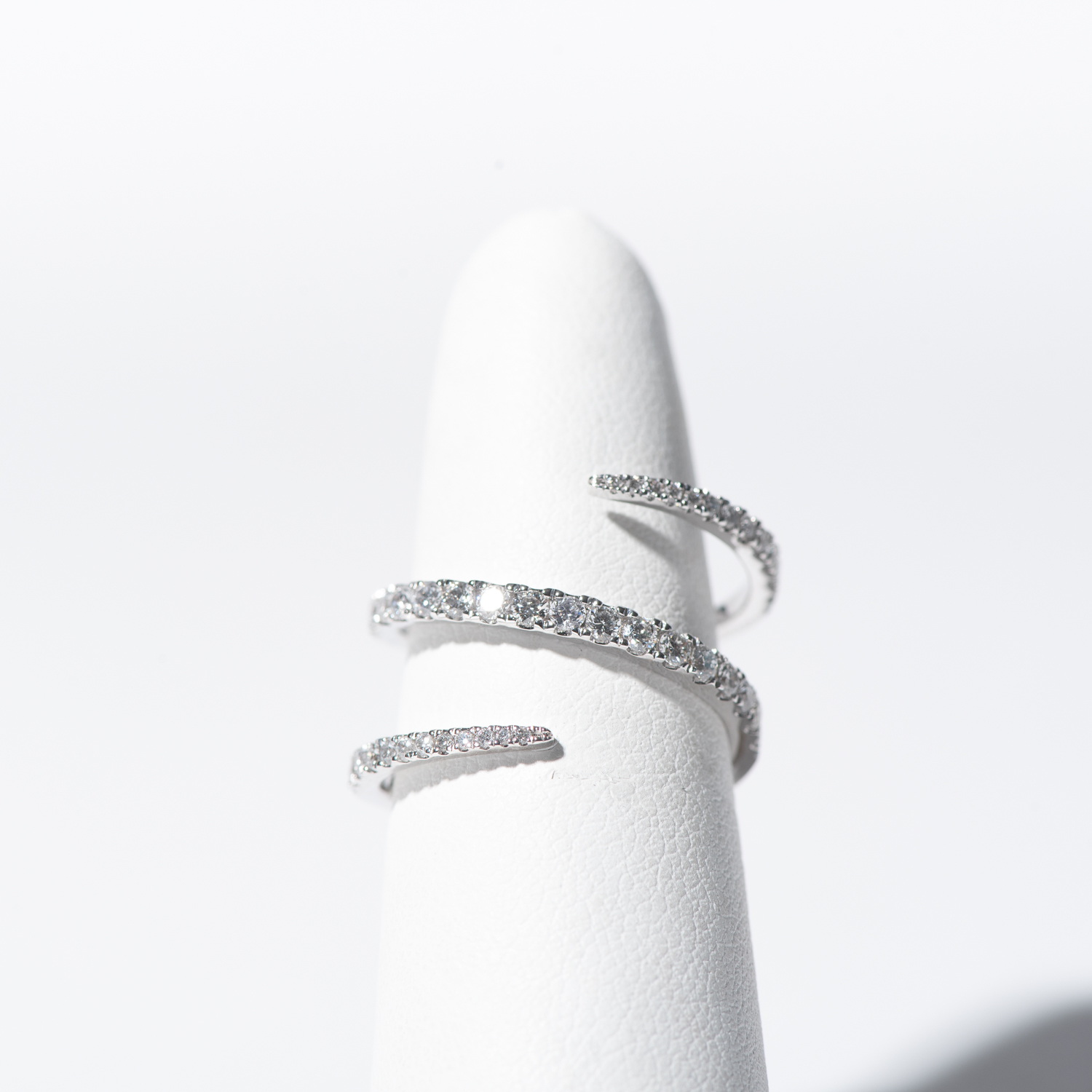Design Twenty Five. - 18K White Gold Diamond Wrap Ring
