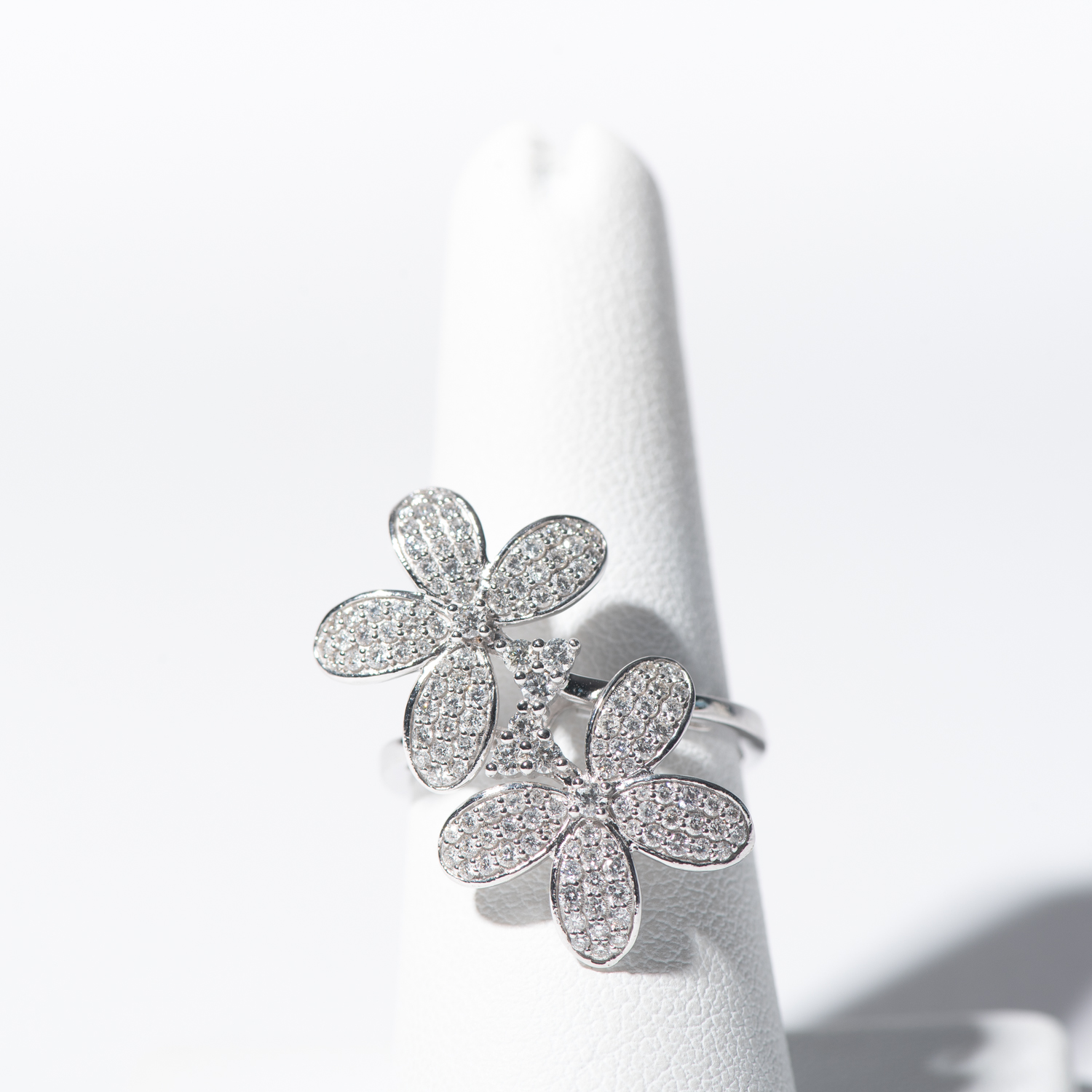 Design Twenty Eight.  - Diamond Floral Ring
