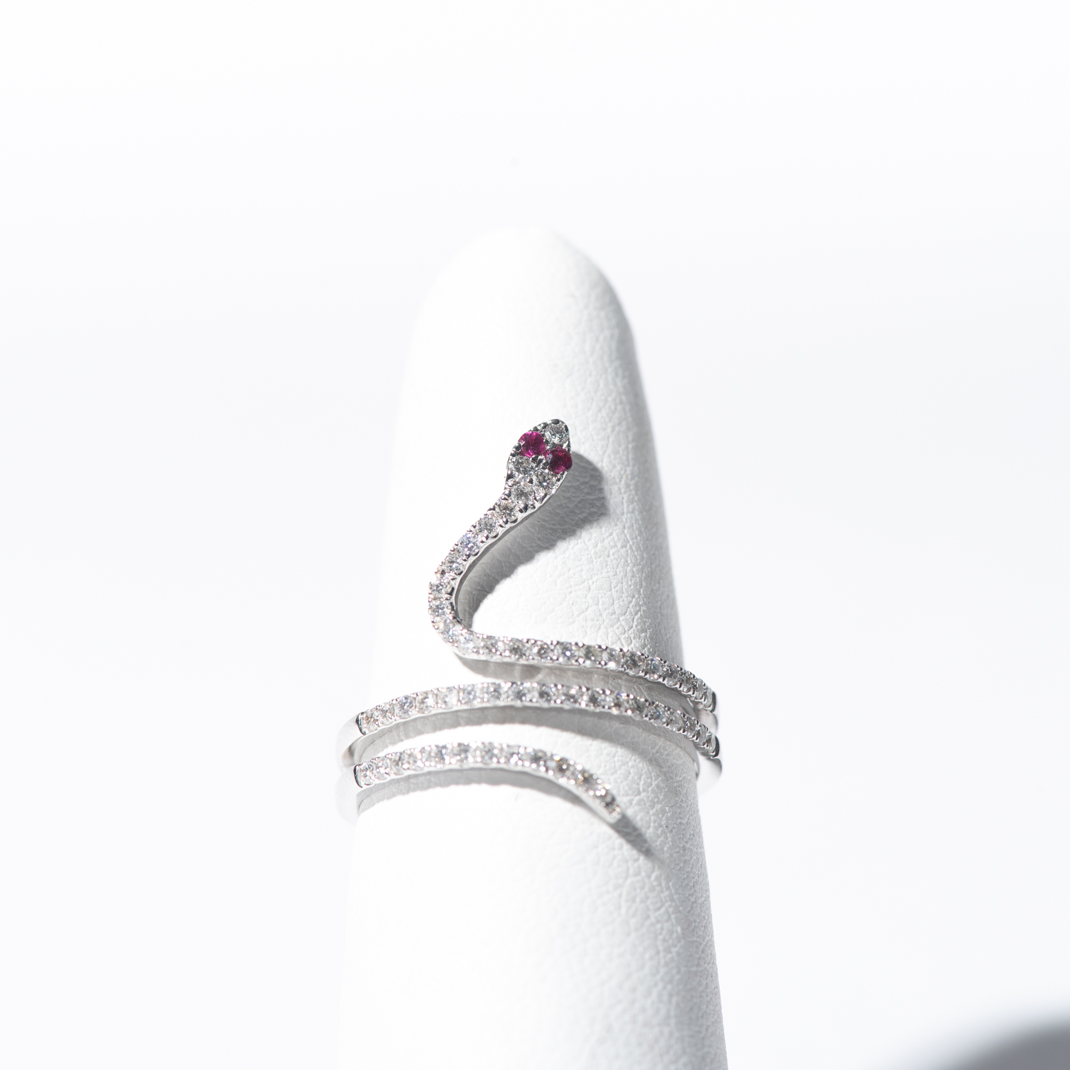 Design Thirty.  - Diamond Snake Wrap with Ruby Accents
