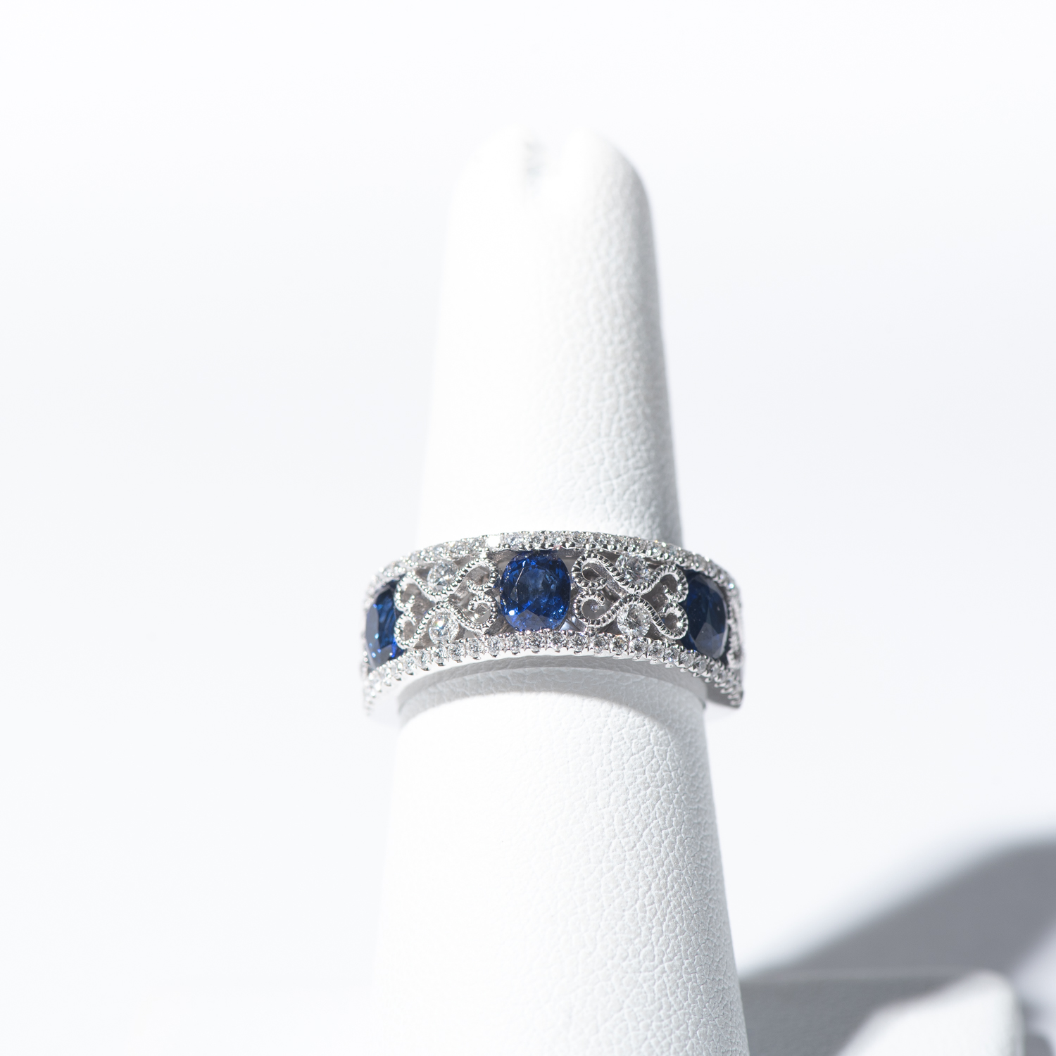 Design Forty.  - Sapphire and Diamond Band