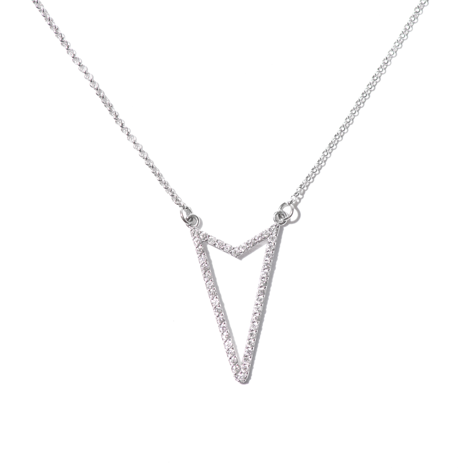 Design Thirteen. - Geometric Diamond Necklace