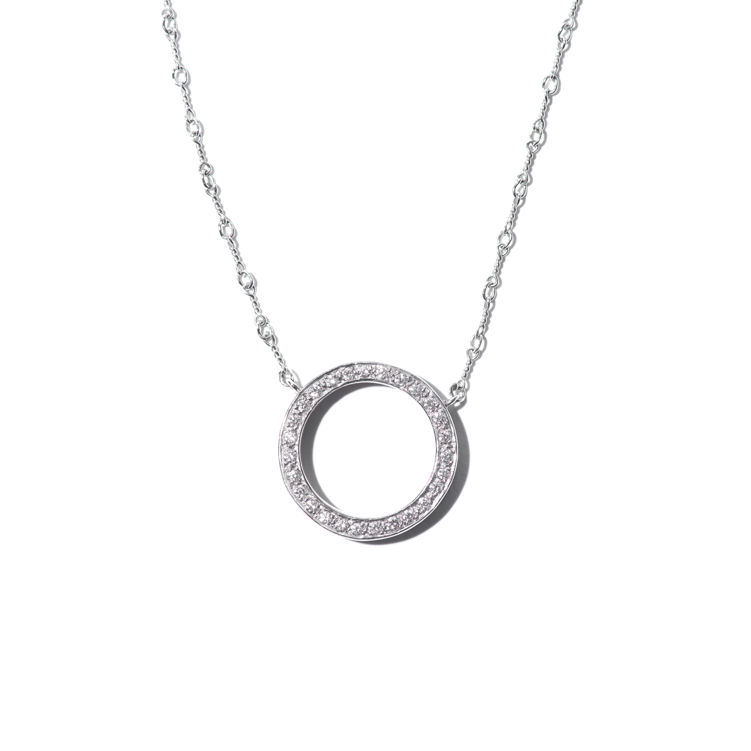 Design Sixteen. - White Gold Round Diamond Necklace