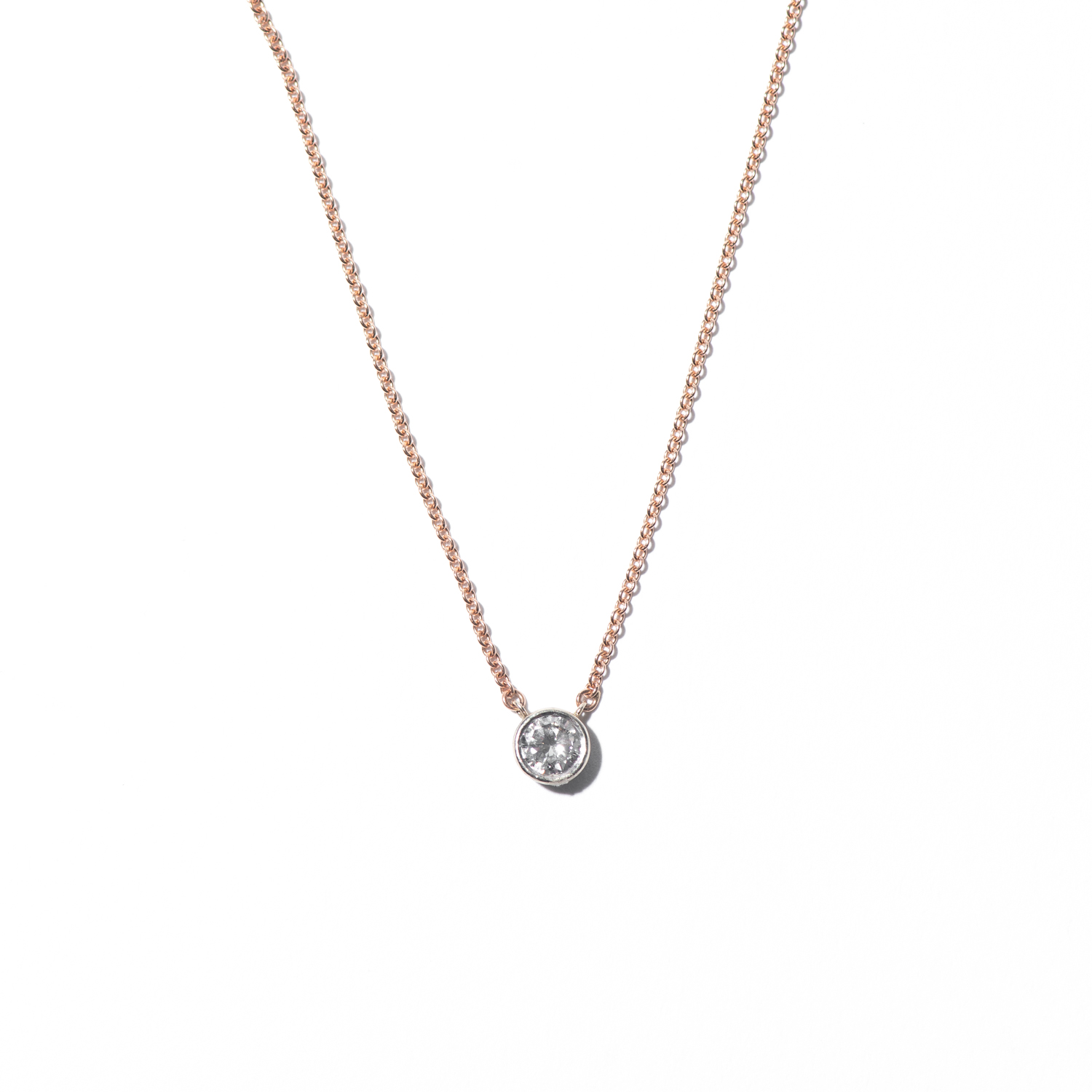 Design Twenty Four. - Rose Gold Diamond Pendant Necklace