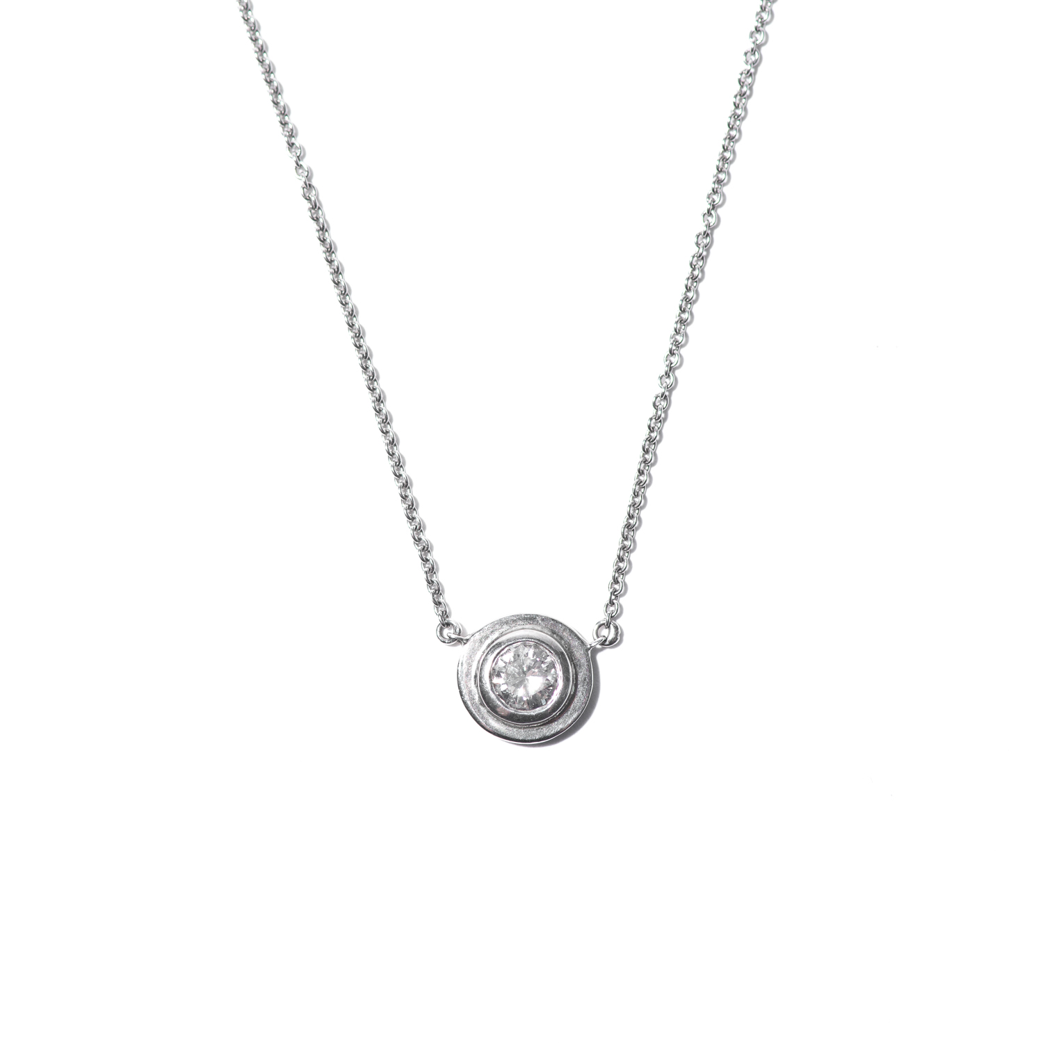 Design Twenty Eight. - Diamond Pendent Necklace with White Gold Metal Detail