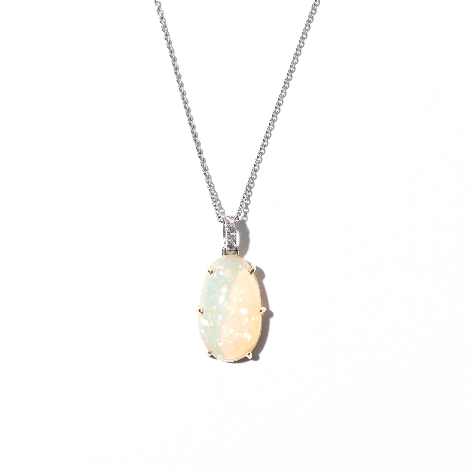 Design Twenty Nine. - Opal Charm with Diamond Detail