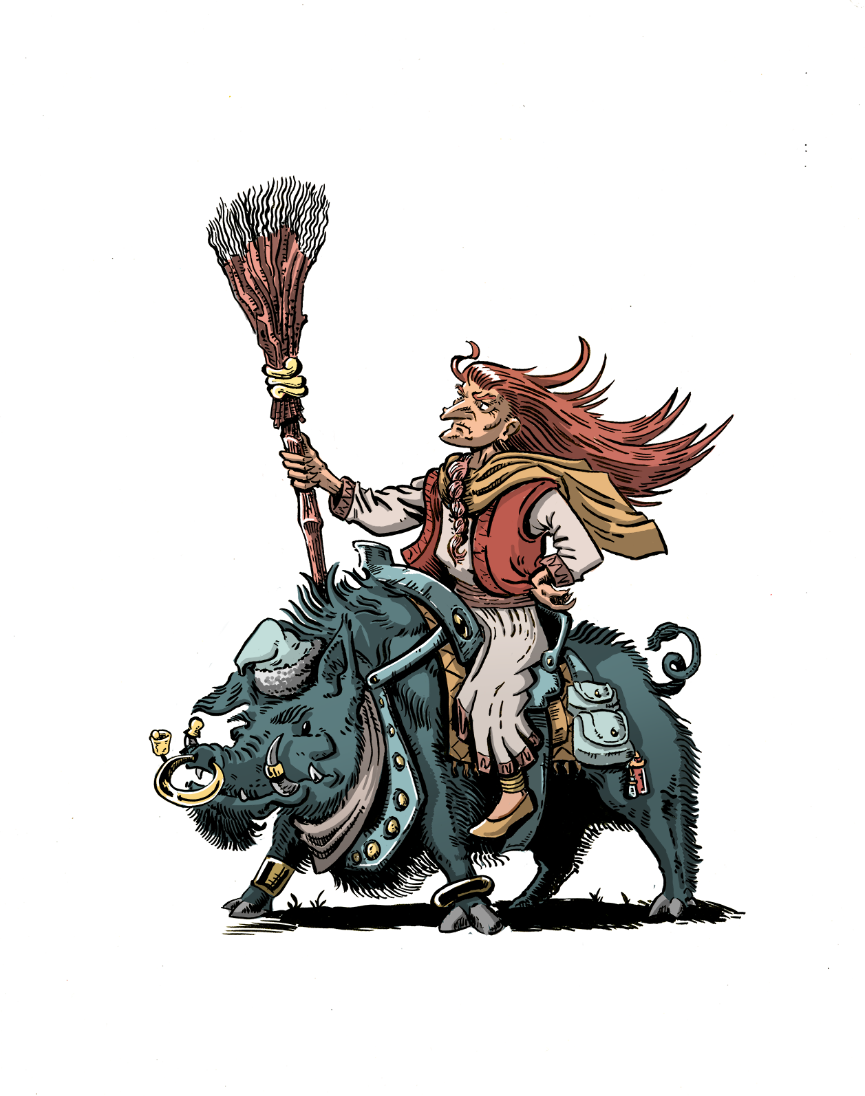 Baba Yaga and her Hog