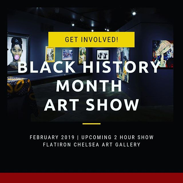 "NEWSFLASH: A popular NYC corporate entity is working to execute a Celebration of Black History Month this February 2019 for internal employees. They are  creating a ""pop up"" art gallery in one of their conference rooms to allow employees to view works celebrating diversity by showcasing various regions of decedents of people of color in America! The event will commence on Feb 7th or 14th and the show would be ~2 hours in duration located in the Flatiron\Chelsea area of Manhattan NYC.  Pieces can be available for sale if employees are interested in purchasing and/or a fee can be negotiated for the art installation. Please contact Kymme@BushwickGrind.com for more information. • • #arts #blackhistorymonth #february2019 #blackart #blackartists #artistsofcolor #nyc #manhattan #africanamericanart #artistsofblackdispora #finearts #africanart #harlemart #artgallery #Brooklyn #bronx #queens #NewYork"