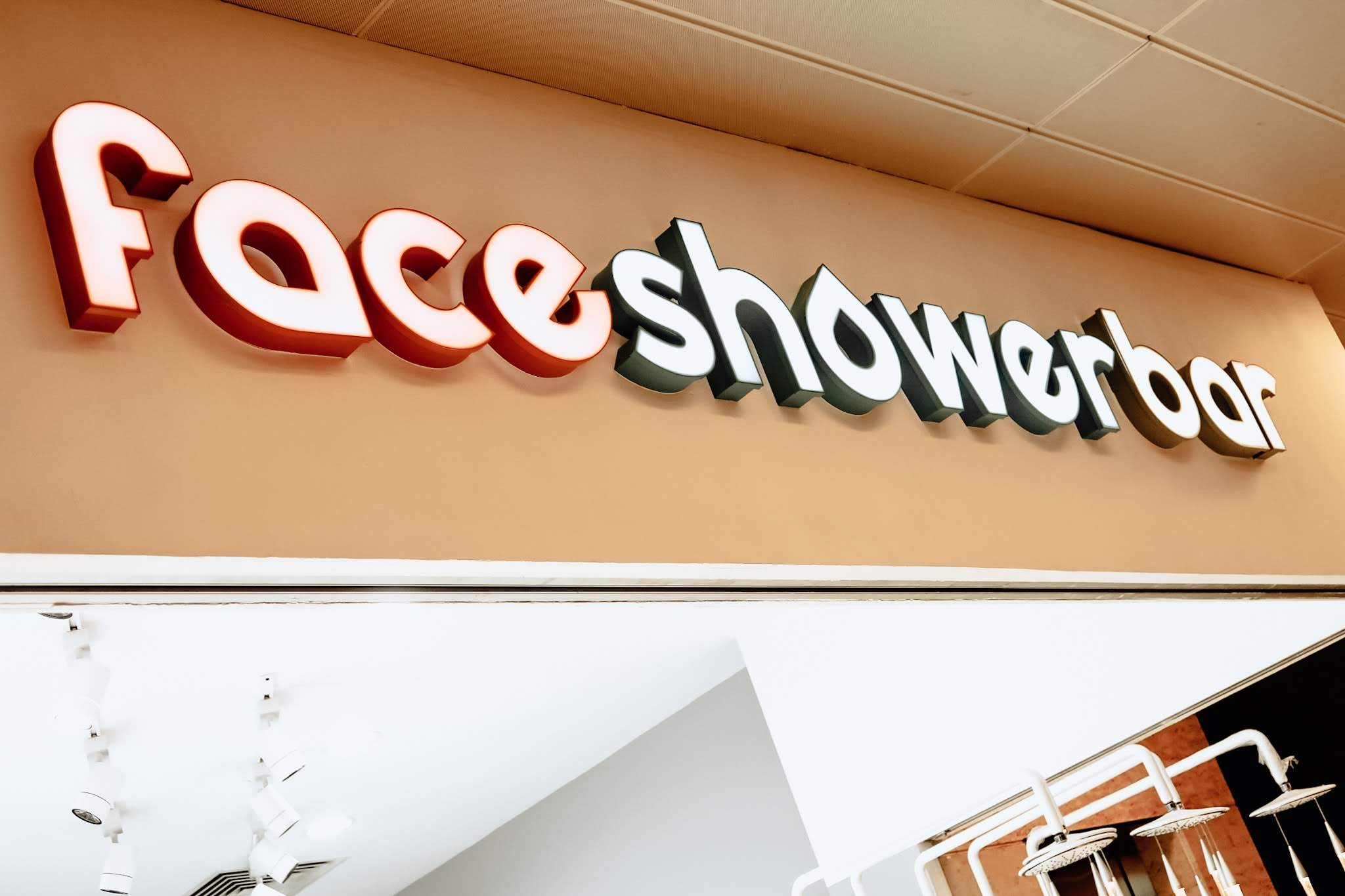 The exterior store front of Face Shower Bar.