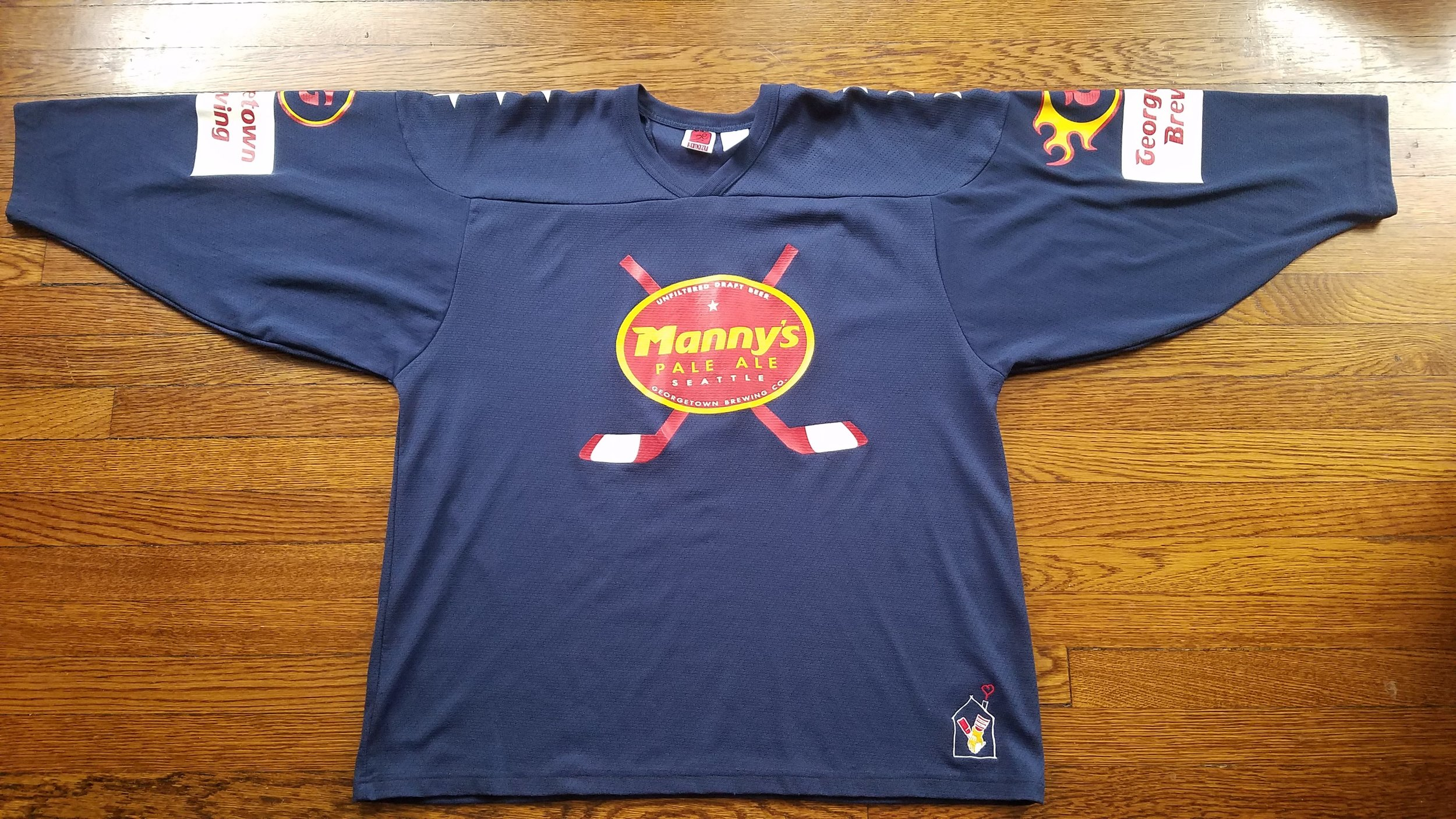 Manny's Mayhem team jersey - back of jersey is blank and ready for you to customize!