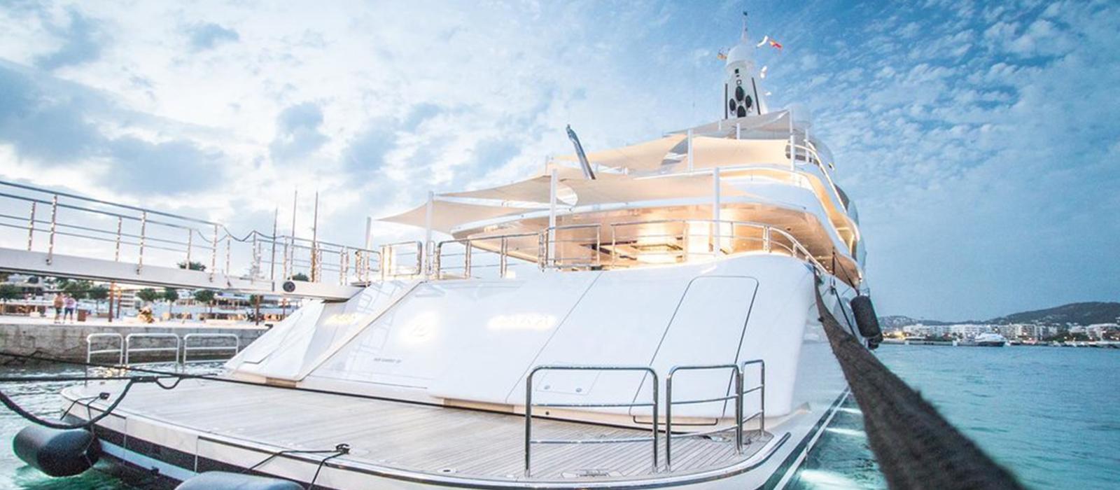 Superyacht 'Lady Lara' in  Marina Ibiza