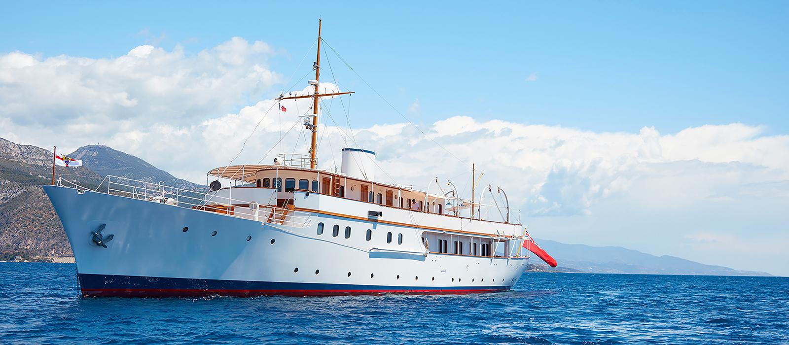 M/Y Malahne, built by UK shipyard,  Pendennis.