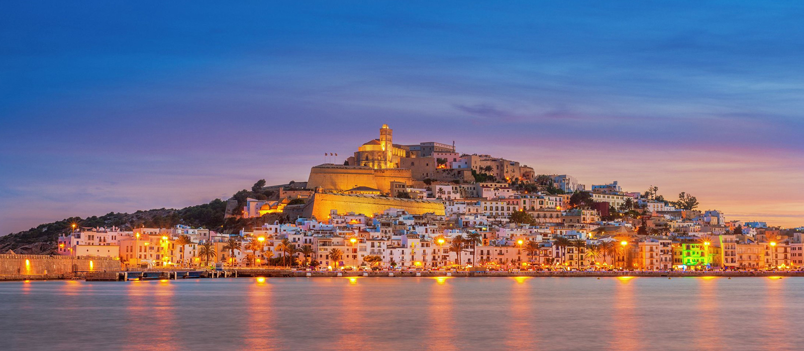 Ibiza Town by night…
