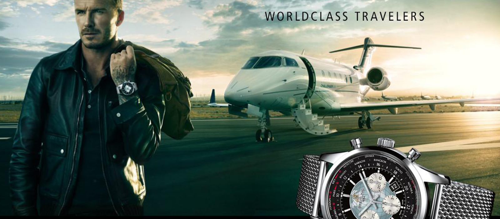 Breitling's unmistakable aviation focussed marketing…