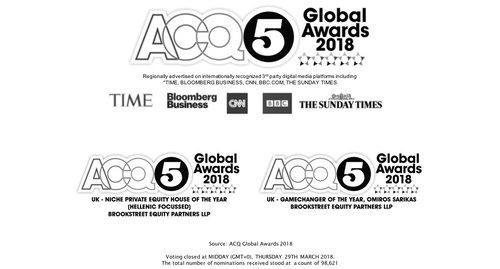 BROOKSTREET WINS 2X ACQ GLOBAL AWARDS