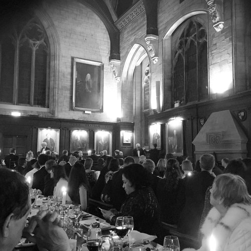 At Balliol with Master and Chancellor.