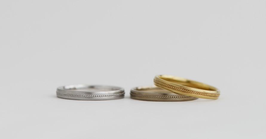 basic / Light-milgrain ring / 80,000~