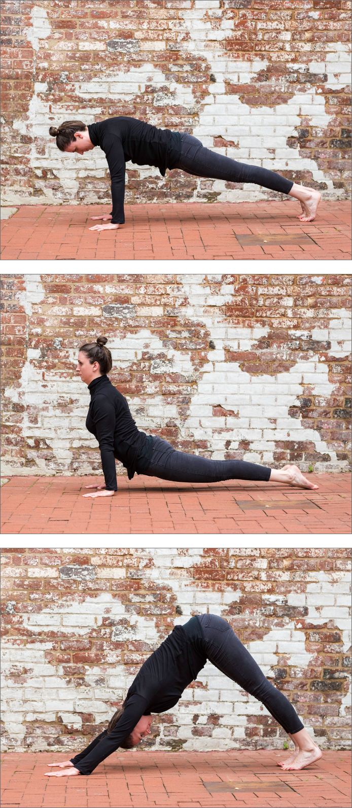 Dr. Kailee Karst, physical therapist and yoga instructor, practicing yoga outside in Richmond VA