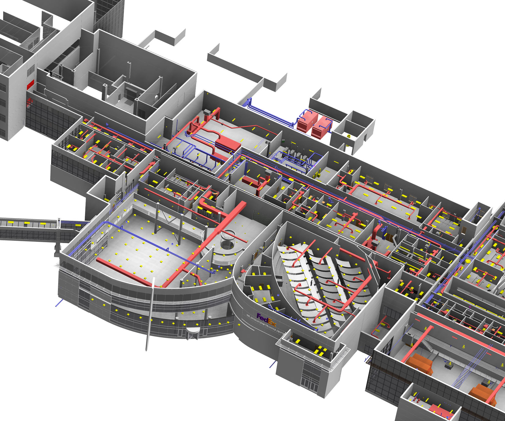 3-D Building Information Model of Engineering Systems