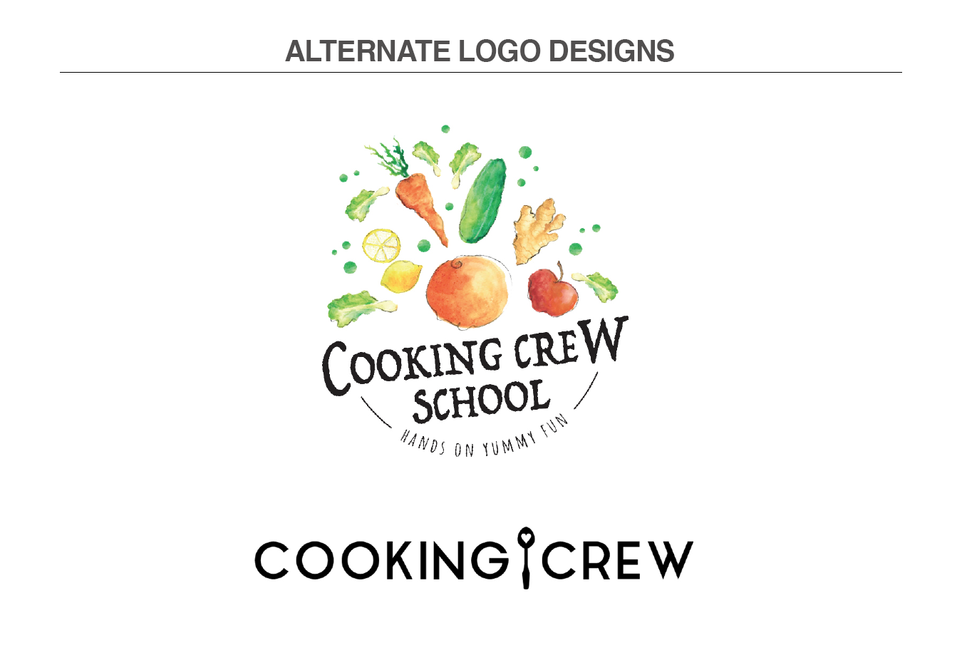 ALTERNATE LOGO DESIGNS