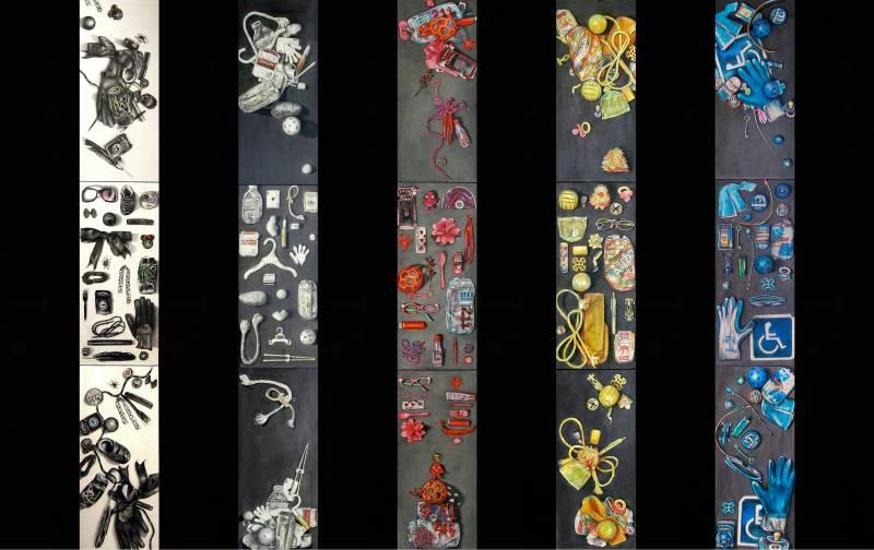 100 Found Objects: Strewn, Displayed, Artistically arranged