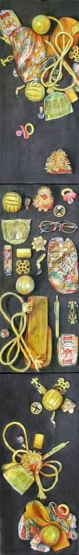 20 Yellow Found Objects: Strewn, Displayed, Artistically Arranged