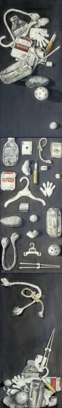 20 White Found Objects: Strewn, Displayed, Artistically Arranged