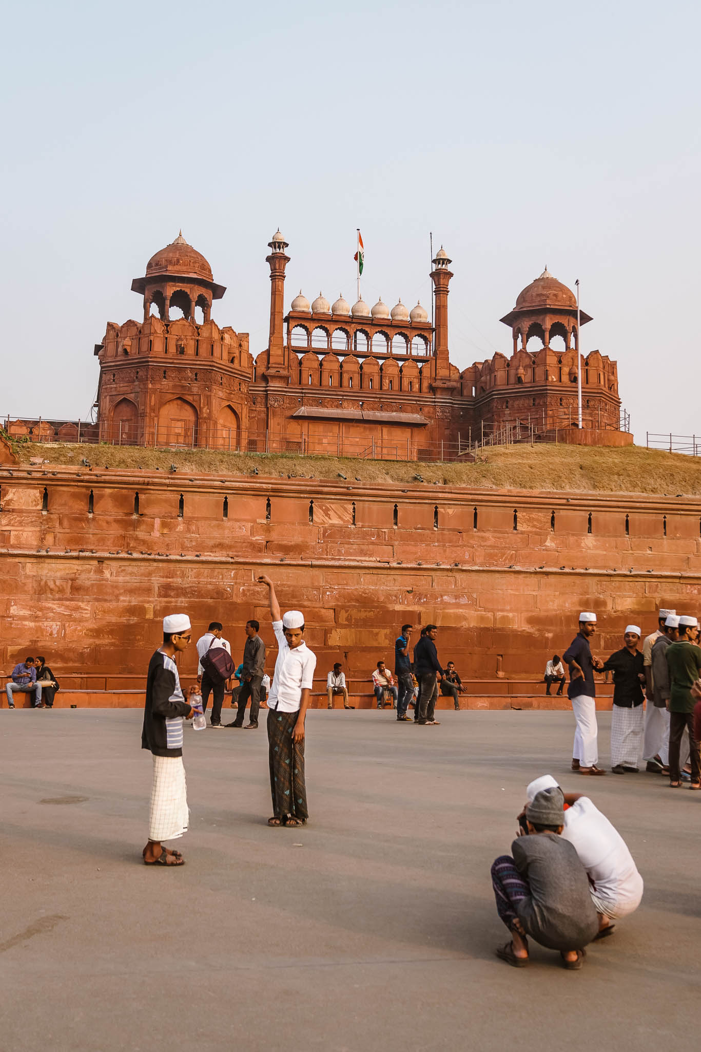 Tourists - Red fort, Delhi