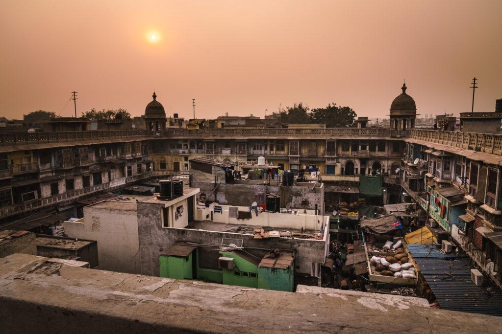 Sunset over Chandni Chowk