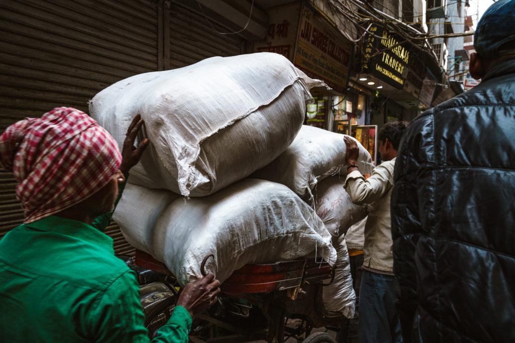 Spice sacks, Chandni Chowk