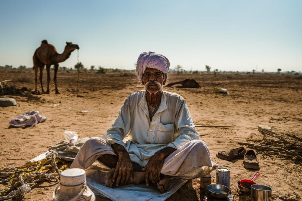 Camel farmer portrait, Pokhran