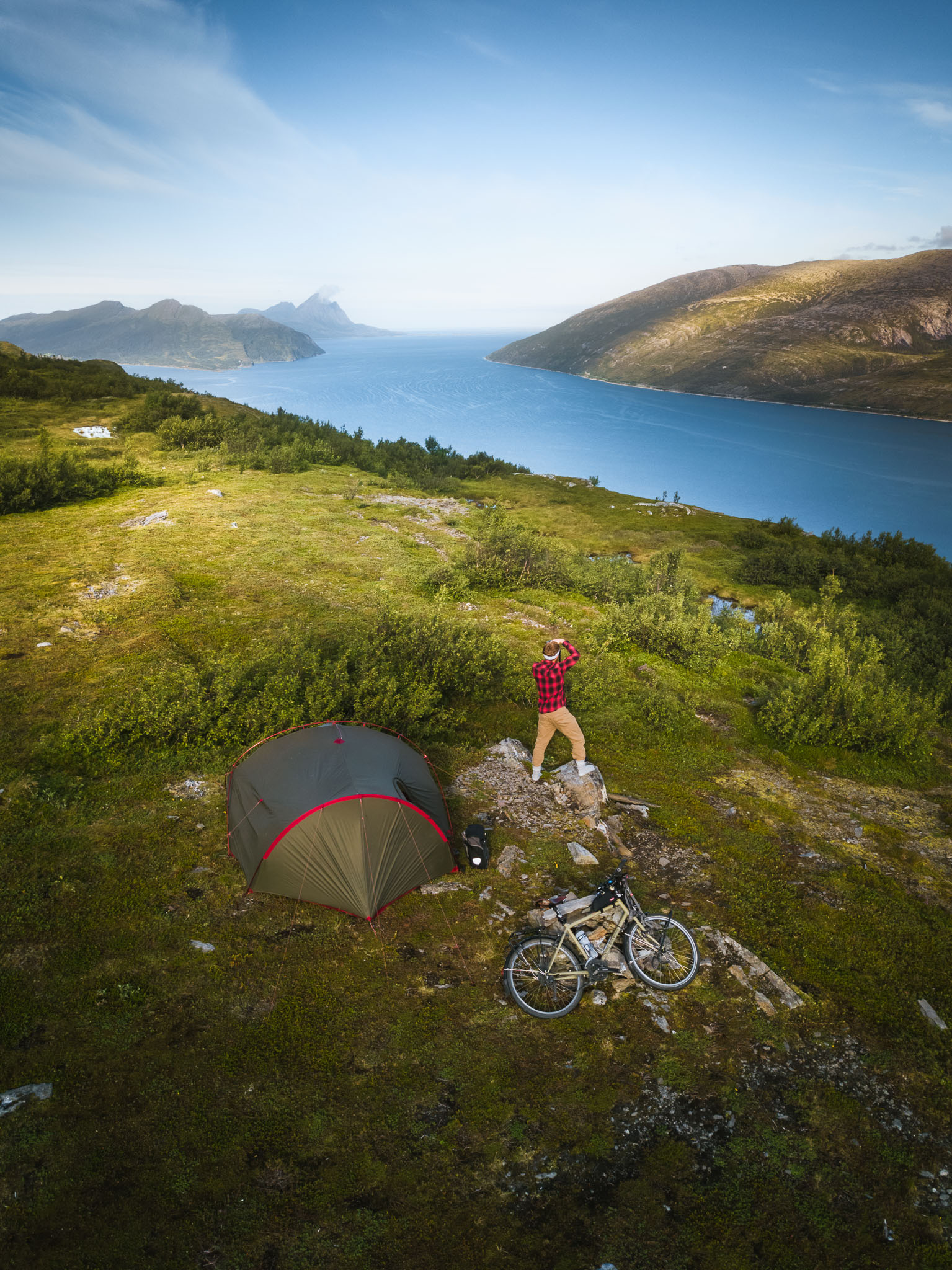 Camping above the fjord