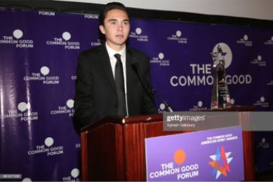 """David Hogg - """"In these times of tragedy and divisiveness, the one thing that brings us all together is our unity and strength…so that we can fight for those who no longer can.""""Read More"""