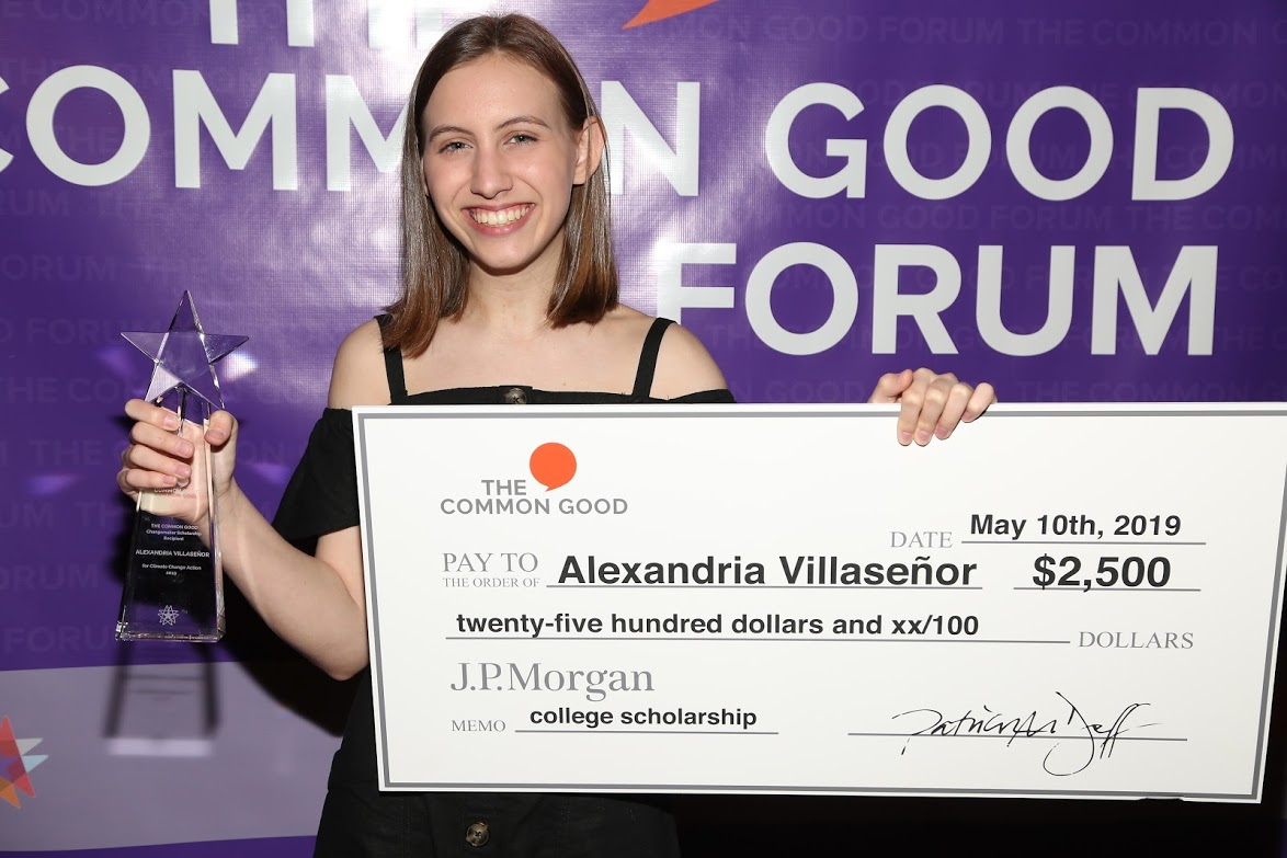 the common good forum 2019 alexandria villasenor changemaker scholarship