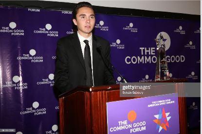 david hogg the common good forum 2018 changemaker scholarship