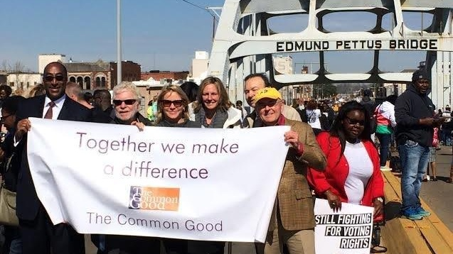 The Common Good marching at the 50th anniversary of the Selma to Montgomery marches