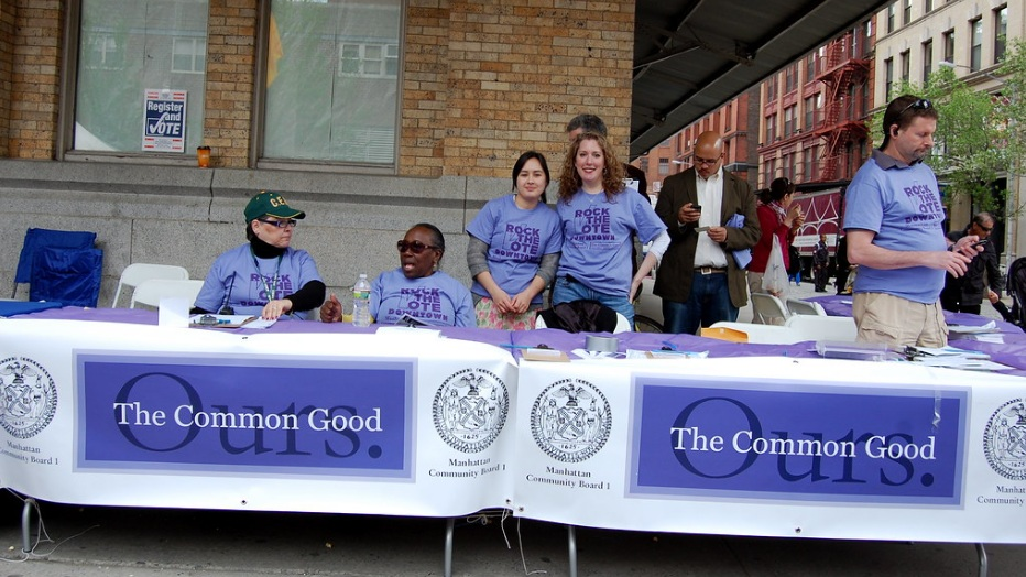 The Common Good at The Tribeca Film Festival Family Day helping register voters