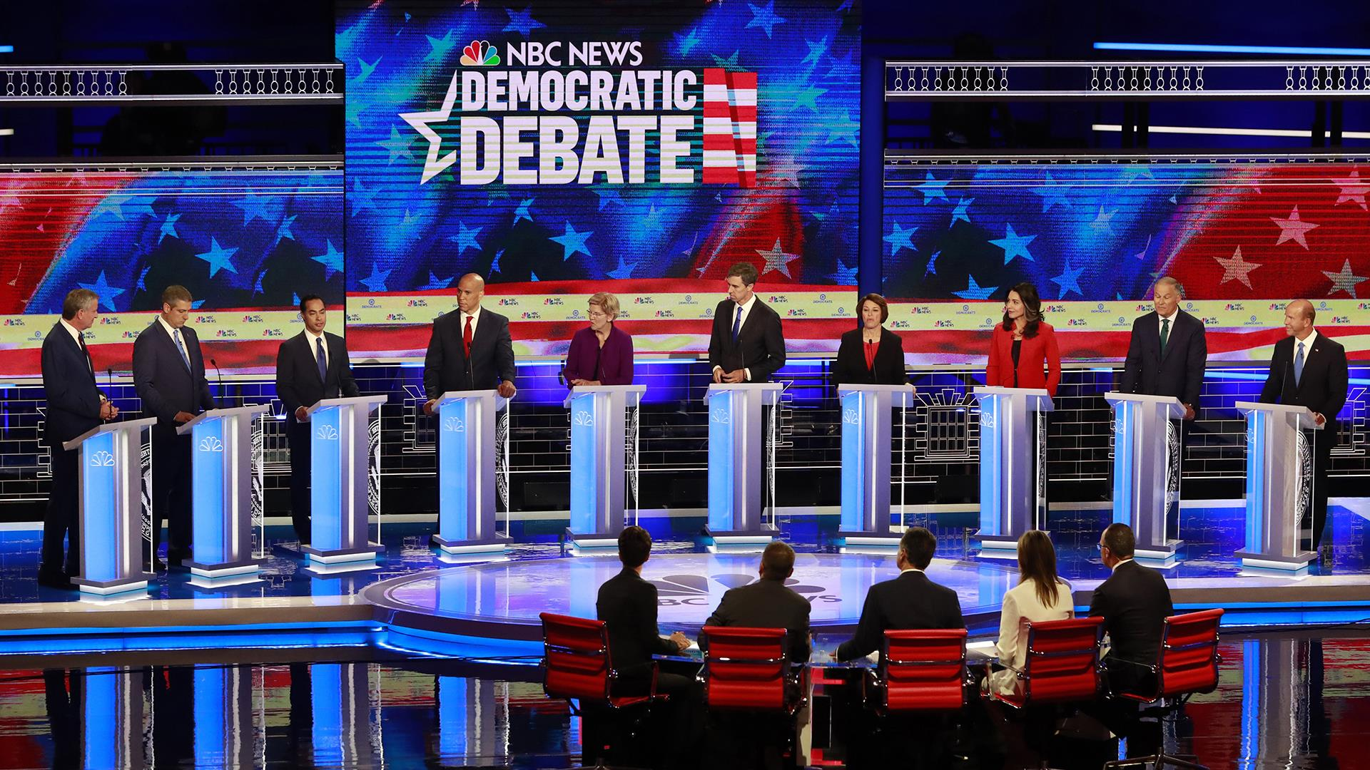 democratic debate the common good elizabeth warren cory booker beto o'rourke