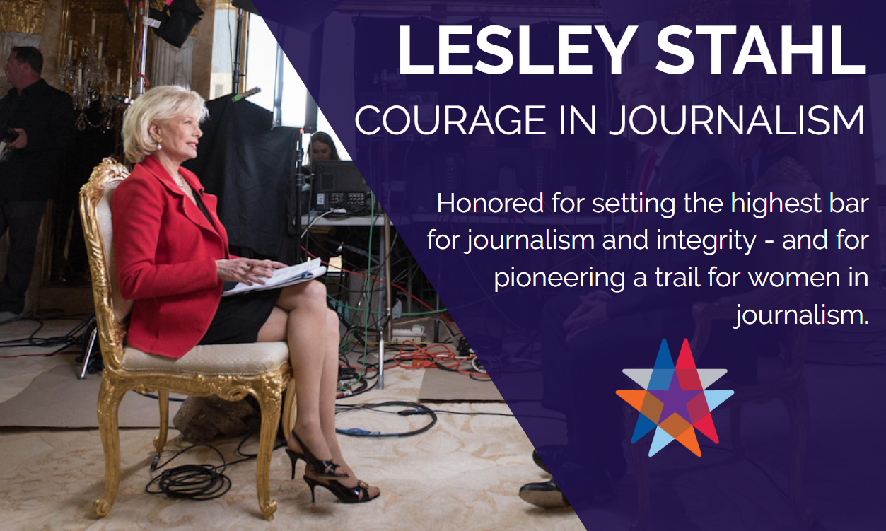 lesley stahl the common good american spirit award