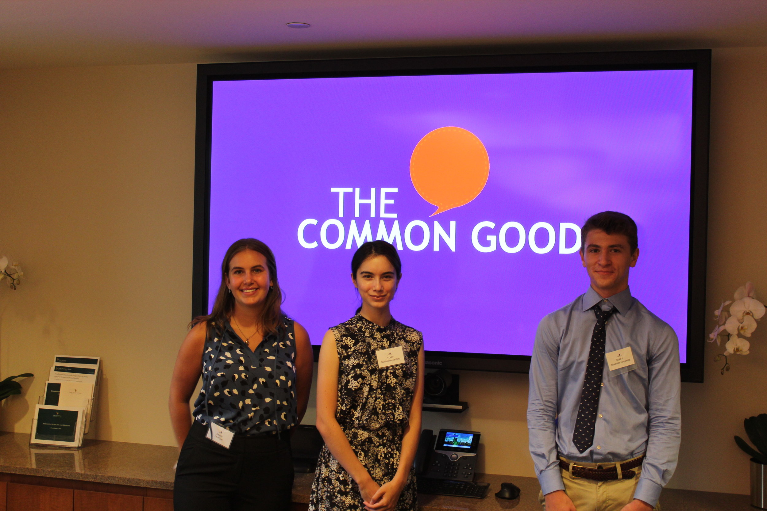 We hope our interns will form friendships and grow professionally while working at The Common Good, expanding their network and growing from each other.