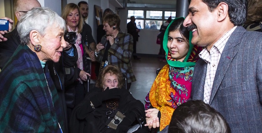 Eva Haller meeting Malala Yousafzai