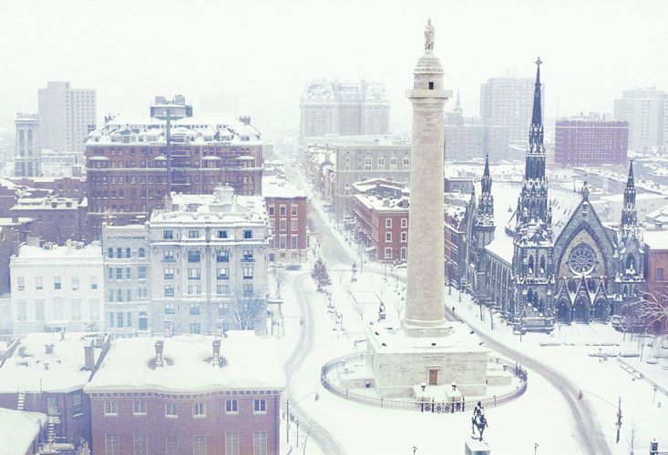 Baltimore in the snow, 2019