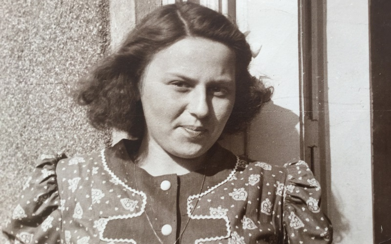 Eva Haller as a young girl in Hungary