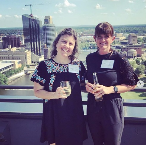 Our designer and horticulturalist, Stephanie and our general manager  and horticulturalist, Selina attending an event for the Grand River Restoration Project.