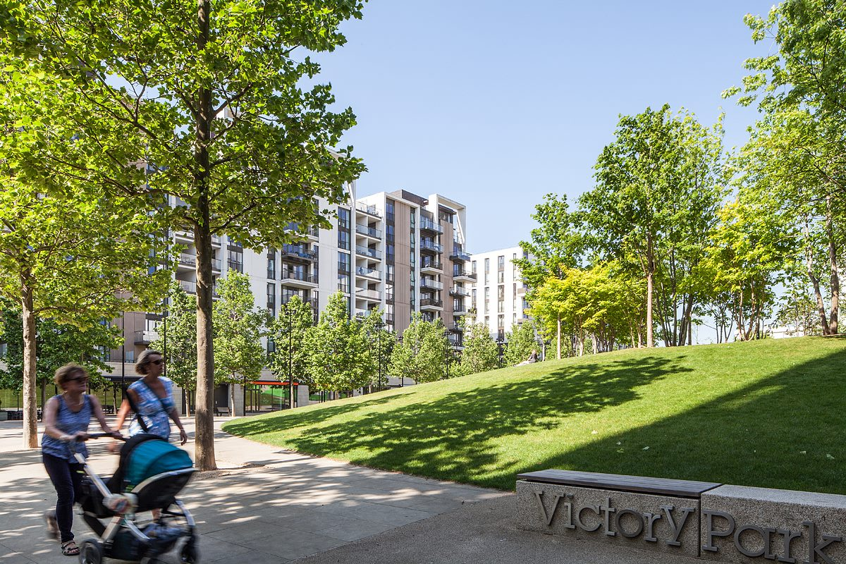 Photo of First Base's East Village Development in Stratford, London