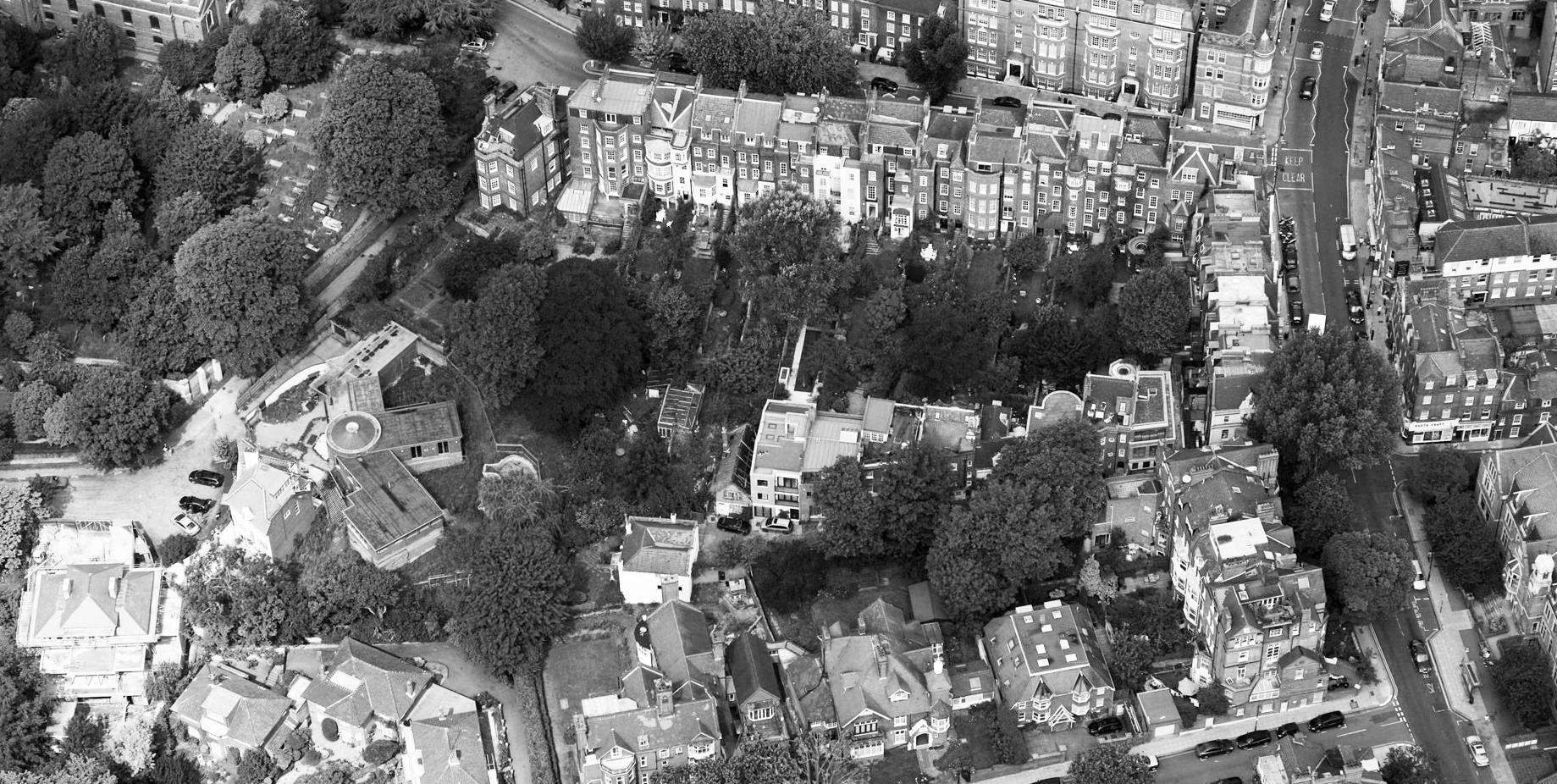 Aerial view north BW.jpg